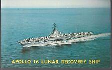 1972 Apollo 16 Prime Recovery ship USS Ticonderoga PC Unused