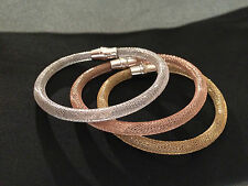 Set of 3 Silver and 18 Carat Gold Plated Magnetic Bracelets