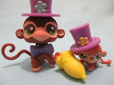 Littlest Pet Shop Lot 2670 & 2671 Mommy Jungle Monkey Circus Costume 100% Authen