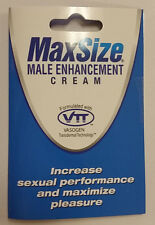 MD LABS MAX SIZE CREAM MALE SEXUAL ERECTILE ENHANCER ENHANCEMENT 1 PACKET
