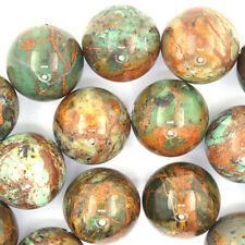 "20mm brown green opal round beads 15.5"" strand"