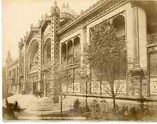 France, Paris, pavillon de la république, exposition universelle Vintage albumen