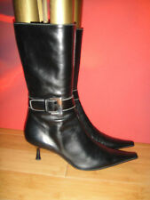 Stylish NAVYBOOT black  pointy  boots  EU 41 *33*