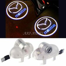 2x Door LED Light Logo Projector Laser Lamps for Mazda 6 RX8 A8 RX-8 CX9 CX-9