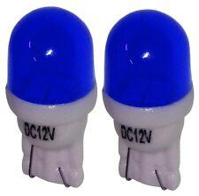 2x ampoule T10 W5W 12V 2LED SMD bleu éclairage intérieur plaque coffre seuils