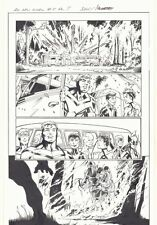 All-New X-Men #4 p.7 - Team with Firefighters - 2016 art by Mark Bagley