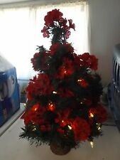 2 foot light up decorated Christmas tree.