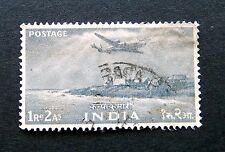 Indian stamps 1955    5 Year Plan  #254 Airplane over land  Used