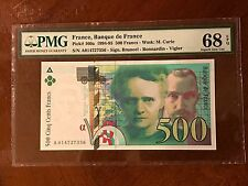 French France 500 Francs Marie Curie PMG 68 Superb GEM UNC EPQ 1994 Pick 160a