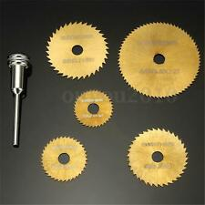 6Pcs HSS Circular Saw Blades Mandrel For Metal Dremel Rotary Cutting Discs Wheel