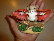 """Charming Tails """"I believe I Can Fly""""  FITZ FLOYD MOUSE Limited Edition 98/348"""