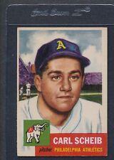 1953 Topps #057 Carl Scheib Athletics VG/EX *247
