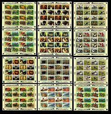 United Nitions. Collection of 12 Panes of 16. Flora & Fauna. MNH (BI#BR/BS)