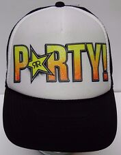 PARTY LIKE A ROCKSTAR ENERGY DRINK Advertising SNAPBACK BLACK ORANGE HAT CAP