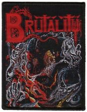 Brutality-screams of Anguish-Woven Patch/ricamate