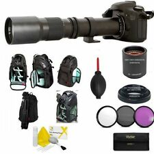 500MM 1000MM ZOOM LENS + KODAK BACKPACK + FILTER KIT FOR CANON EOS REBEL DS