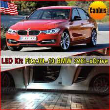 10PCS White Interior Canbus LED Package Kit For 2009-2013 BMW 328i xDrive E90
