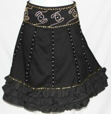 S GYPSY TRIBAL LOLITA BOHO BURLESQUE STEAMPUNK RENAISSANCE PEASANT GOTHIC SKIRT