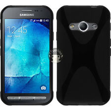 Black X Line TPU Silicone Case Skin Cover  For Samsung Galaxy Xcover 3 SM-G388F