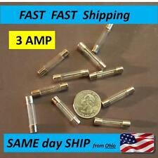 3 AMP slow blow (SB) small glass replacement fuse