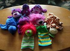 9 HAND PUPPET PLUSH ANIMAL CHARACTER DAYCARE LOT