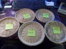 """1 x qty Wicker Bamboo Rattan Picnic Large Reusable Paper Plate Holders 9"""" Q1"""