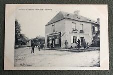CPA. HESLOUP. 61 - Le Bourg. Café Lemeunier Boulangerie. 1912?