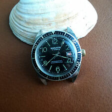 Vintage Sheraton Divers/Diving Watch w/Deep Patina,Red Date Wheel FOR REPAIR