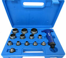 14pc Hollow Punch Set / Hole Punch Tool / Leather / Foam / Plastic / Fibre PN166