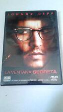 """DVD """"LA VENTANA SECRETA"""" DAVID KOEPP JOHNNY DEPP STEPHEN KING MARIA BELLO"""
