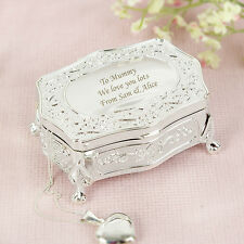 Personalised Engraved Luxury Jewellery Trinket Box Mothers Day Christmas Gift