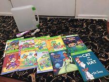 LeapFrog Tag Reader USB Cord & Case + 10 Books Toddler Pre-K Beginner Reading