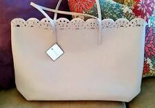 Macy's Large Taupe Purse Tote Summer Bag