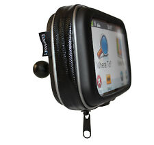 "GPS 5"" SATNAV CASE MOTORCYCLE MOTORBIKE RAM BALL MOUNT WATERPROOF 5 INCH"