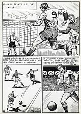 FINALE DE COUPE FOOTBALL (ROBERT HUGUES) PLANCHE ORIGINALE PILAR SANTOS PAGE 39