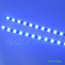 2x Blue 12 LEDs 30cm 5050 SMD LED Strip Light Flexible Waterproof 12V Car J01