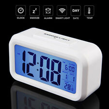 LED Display Table Digital Clock Date Time Temperature Light Control Wall Clock