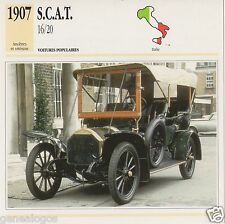 FICHE AUTOMOBILE GLACEE ITALIE CAR S.C.A.T. 16/20 1907