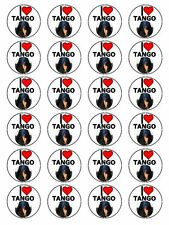 "x24 1.5"" I Love Tango Argentinian Uruguayan Dance Cupcake Topper On Rice Paper"