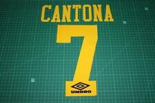 Flocage CANTONA n°7 jaune pour maillot MANCHESTER UNITED  patch football ref9/1