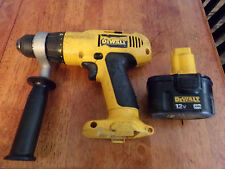 "DeWalt 12 Volt DW972 Adjustable Clutch Cordless 3/8"" VSR Drill Power Too-TESTED!"
