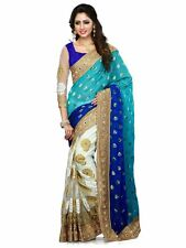 Indian Cultural New Women's Wear Unstitch Blouse Sari Latest Ethnic Saree