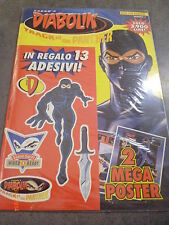 DIABOLIK TRACK OF THE PANTHER 2/2001 con ADESIVI e POSTER
