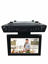 "10.2"" Under Cabinet Kitchen TV Set w/ DVD Player HDMI Bluetooth FM Radio Charger"