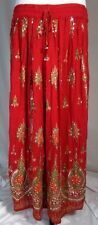 Women's Skirt Peasant Boho Bohemian Long Modest Red Indian Gold L-XL