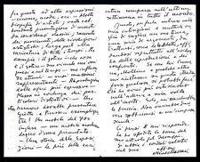 MACCARI, Mino - Lettera (01.11.1938) di tre pagine di 71 righe e firma autografa