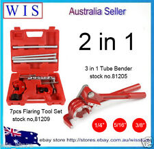 Flaring Tool 7PC Kit Pipe Cutter 180° 3 in 1 Tube Bender,Plumbing Tools Set