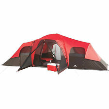 Instant Cabin Tent 10 Person Outdoor Camping Red Family Shelter Hiking Travel