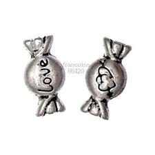 10 Perles intercalaire spacer Bonbon love 11.5x6x3.5mm Apprêts créat bijoux A151