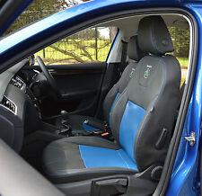 Skoda octavia 2nd gen noir & bleu entièrement sur mesure voiture housses de siège - 2 sièges avant